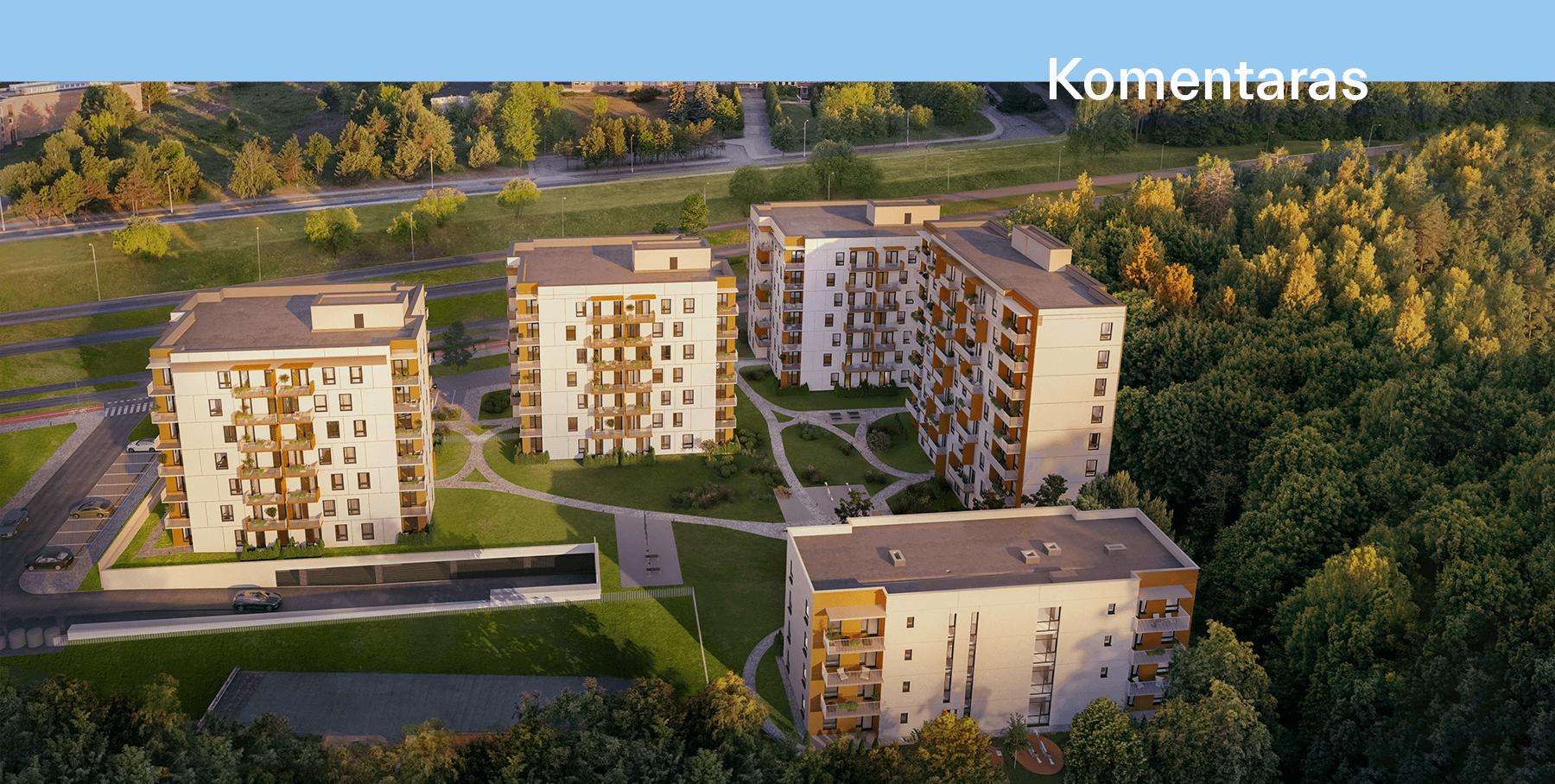 Jomanto parkas - nauji butai Baltupiuose
